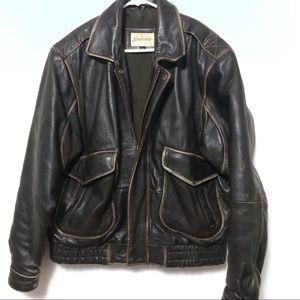 St. John's bay leather bomber jacket biker moto